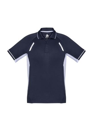 POLO MENS RENEGADE NAVY/WHITE 2XL - 155GSM BIZCOOL FABRIC