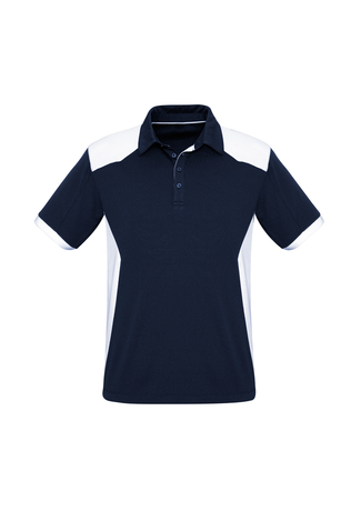 POLO MENS RIVAL NAVY/WHITE 2XL - 155GSM BIZCOOL FABRIC