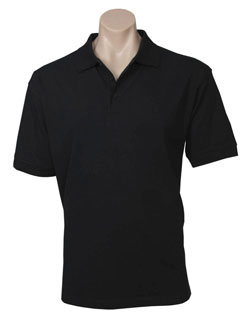 POLO MENS OCEANA BLACK 2XL COTTON RICH STRETCH
