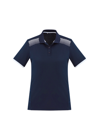 POLO LADIES GALAXY NAVY/WITE S10 - 155GSM BIZCOOL FABRIC