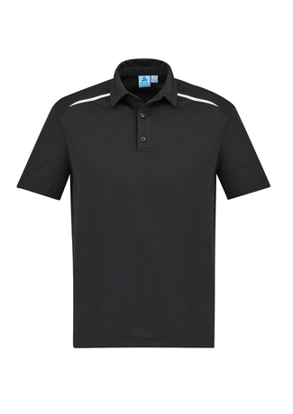 POLO MENS SONAR BLACK/WHITE 2XL - 80% BIZCOOL 20% COTTON BACK