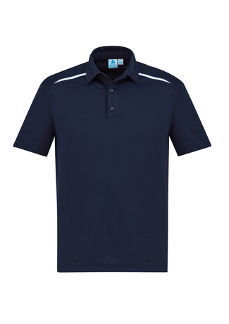 POLO MENS SONAR NAVY/WHITE 2XL - 80% BIZCOOL 20% COTTON BACK
