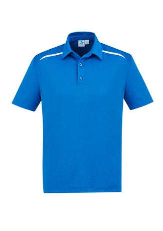 POLO MENS SONAR ROYAL/WHITE 2XL - 80% BIZCOOL 20% COTTON BACK