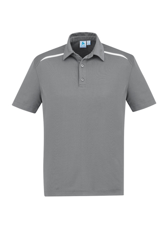 POLO MENS SONAR SILVER/WHITE 2XL - 80% BIZCOOL 20% COTTON BACK