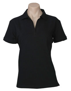 POLO LADIES OCEANA BLACK SIZE 10 COTTON RICH STRETCH