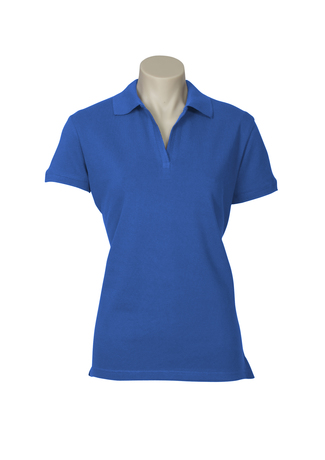 POLO LADIES OCEANA F/BLUE SIZE 10 COTTON RICH STRETCH
