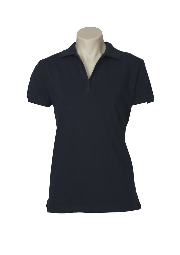 POLO LADIES OCEANA NAVY SIZE 10 COTTON RICH STRETCH