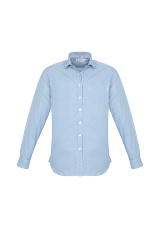 MENS ELLISON L/S SHIRT BLUE 2XL -