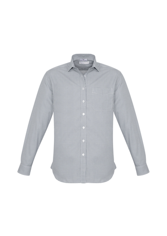 MENS ELLISON L/S SHIRT SILVER 2XL -