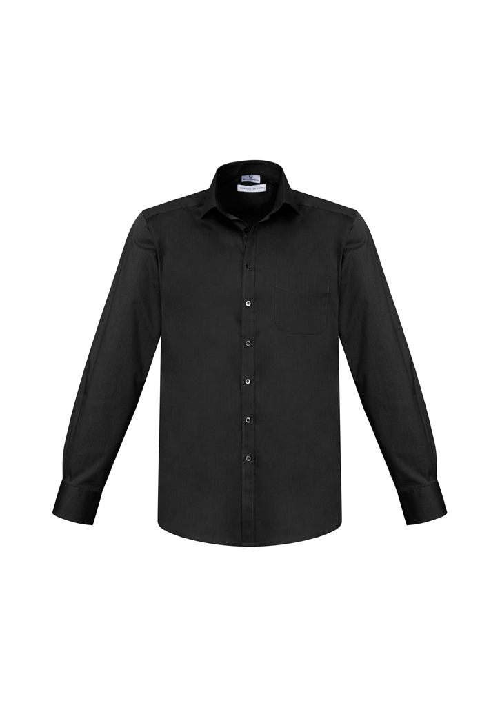 SHIRT MENS MONACO L/S BLACK 3XL -