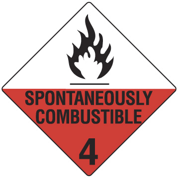 SPONTANEOUSLY COMBUSTABLE 4 270 X 270mm S/ADHESIVE
