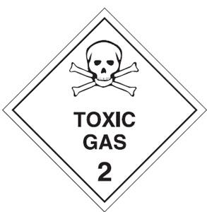 TOXIC GAS CLASS 2 270 X 270mm S/ADHESIVE