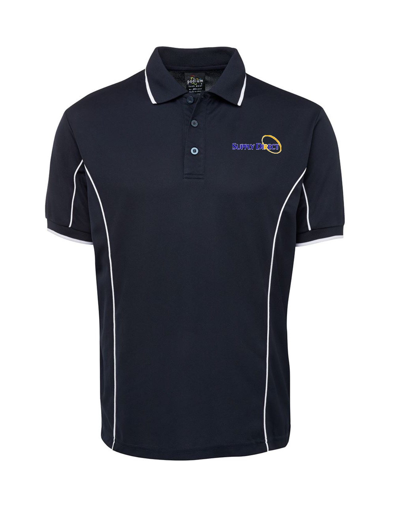 PODIUM POLO NAVY WHITE 2XL - SUPPLY DIRECT LOGO