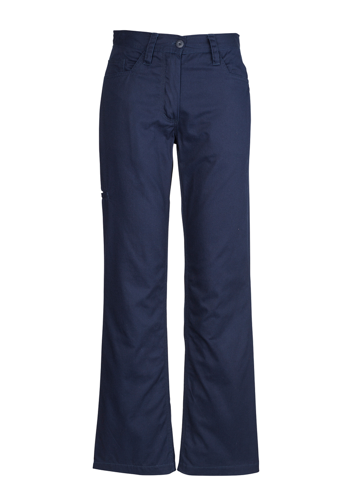 PANT LADIES PLAIN UTILTY NAVY  S10