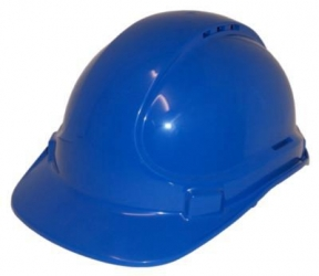 HARD HAT VENTED BLUE