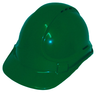 HARD HAT VENTED GREEN